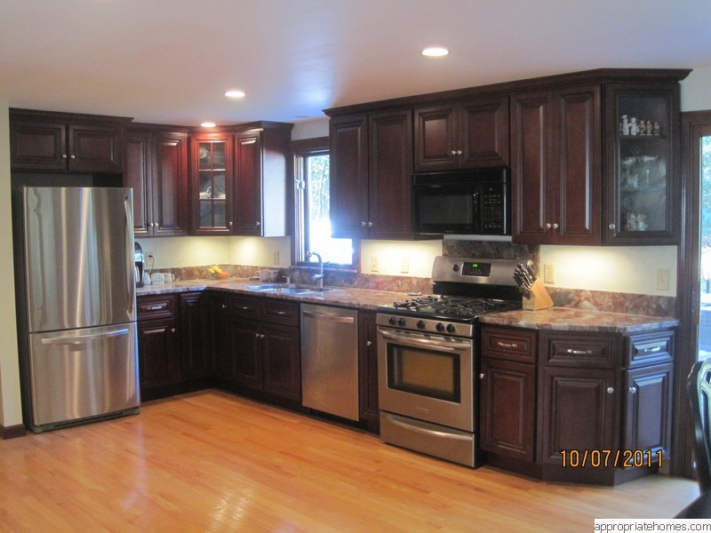 Pre Finiswhed Oaqk Florring New Kitchen