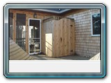 Brewster-white-cedar- Siding-shingles-red-cedar-shower-enclosure