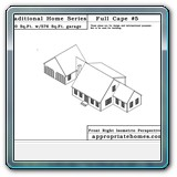 Provincetown-cape-two-car-garage-front-isometric