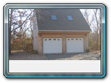 Orleans-two-car-saltbox-garage-with-skylights