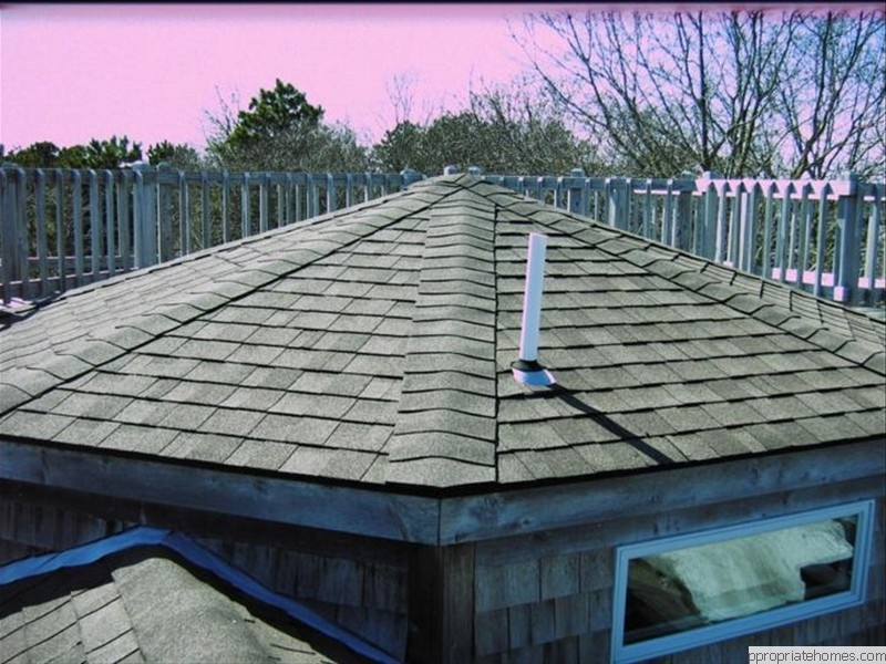 Brewster-dimentional-shingles-on-octagon roof