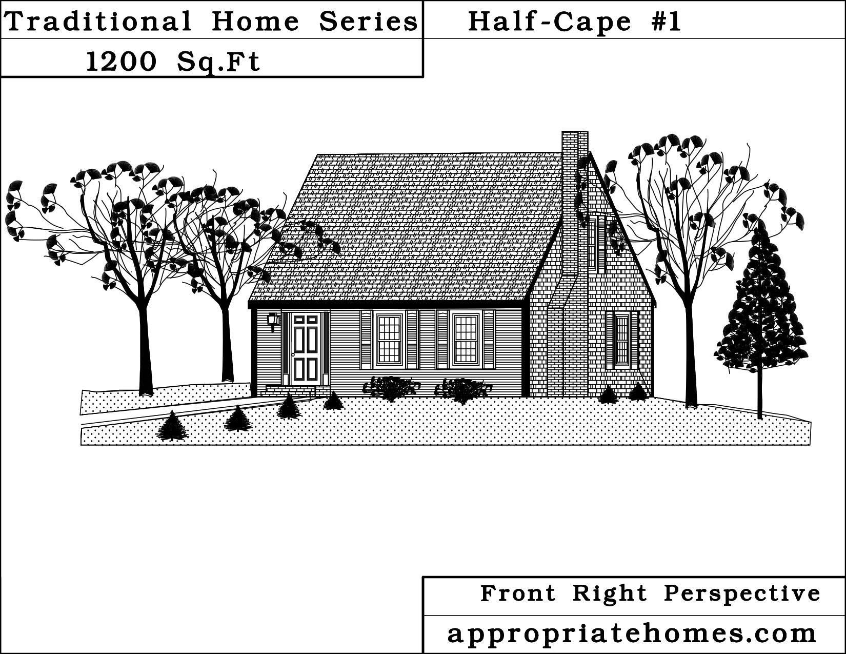 Cape Cod Home Design Half Cape Style House Plans